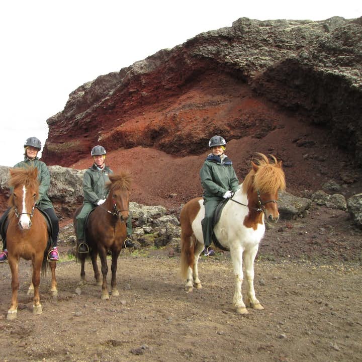 See the wicked lava landscapes of west Iceland by horseback in summer.