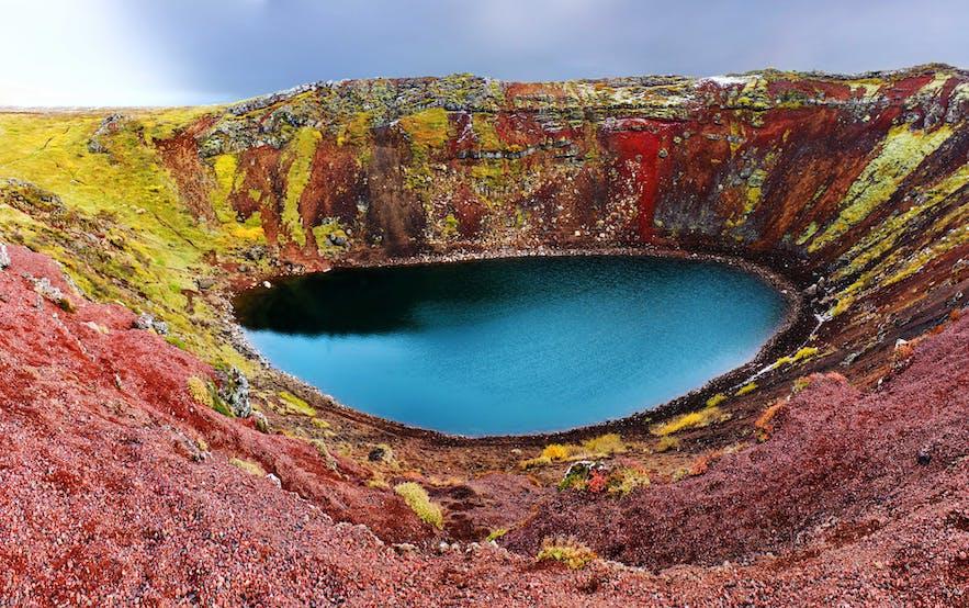 Cratère de Kerid: une visite possible lors d'un weekend en Islande