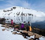 A speedboat will get you to the Kvíar Ski Lodge in the Westfjords.