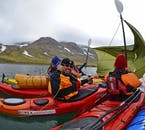 A reasonable level of fitness is required to take a kayak tour through Hornstrandir in the Westfjords.