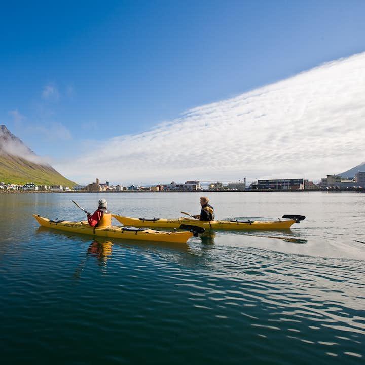 Kayak out into the Westfjords in summer from Ísafjörður.