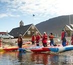 Cette sortie kayak est depuis Isafjordur : capitale des Fjords de l'Ouest en Islande