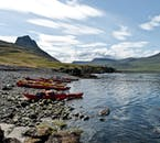 Kayaks await you for an adventure through the fjords of north-west Iceland.