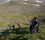 Hiking in Hornstrandir in the summer reveals beautiful views of the Westfjords.