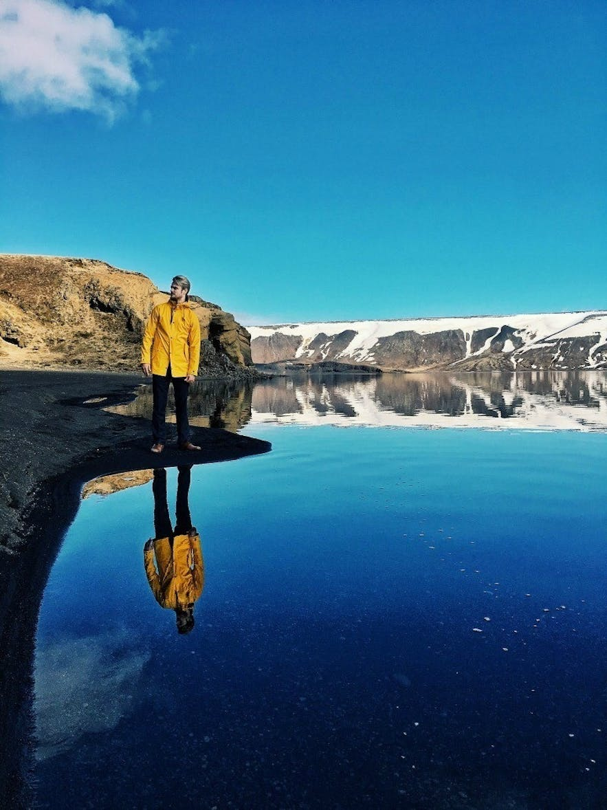 Kleifarvatn lake in Iceland is a great dive site