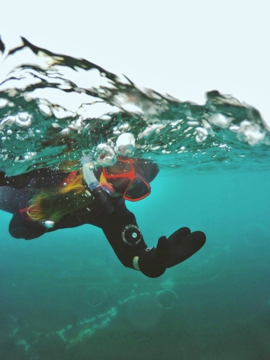 Kleifarvatn Snorkeling in Iceland