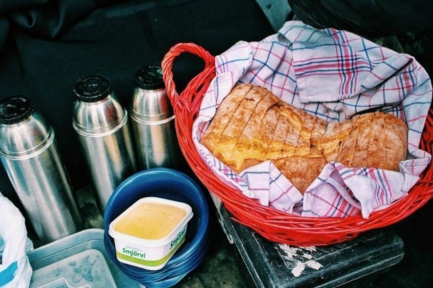 Breakfast buffet in Iceland