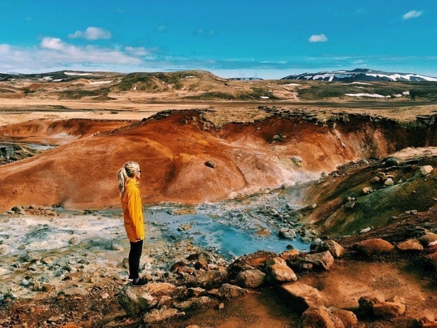 Seltún geothermal area in Iceland