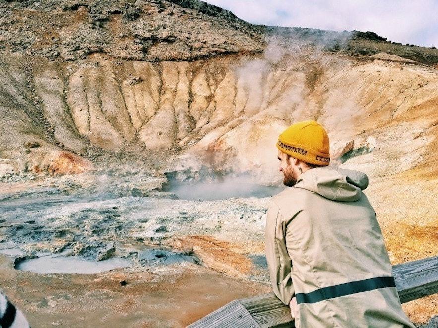 Geothermal hot springs in Iceland
