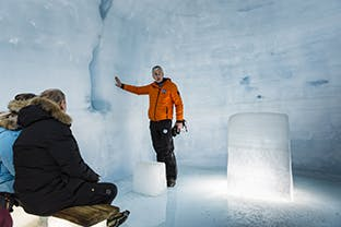 Ice Cave Tunnel, Helicopter & Super Jeep Tour