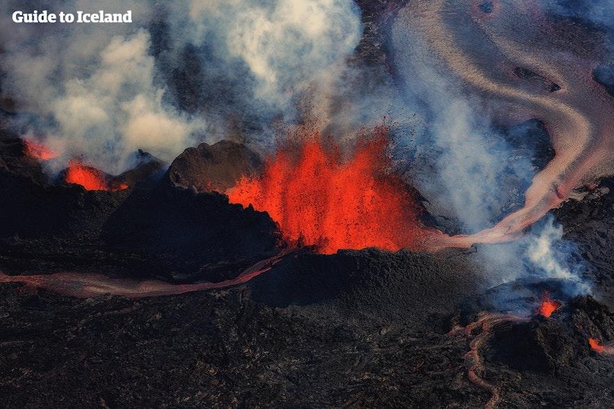 2014年Holuhraun火山爆发的情形