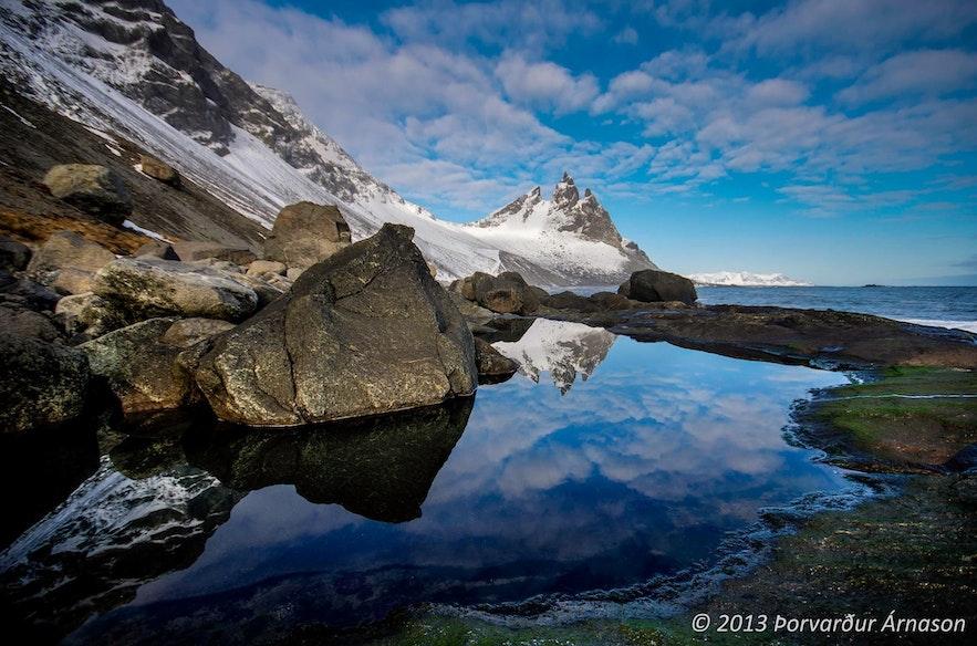アイスランド南部にあるブルンホルンの山