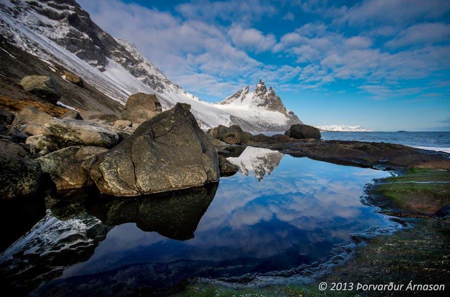 冰岛东南部的Brunnhorn山