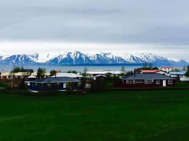 Cloud cover by Akureyri in north Iceland
