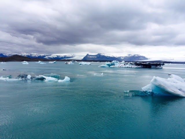 Jökulsárlón glacier lagoon in Iceland in May