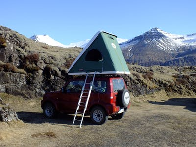 Suzuki Jimny with a rooftent 2010- 2012