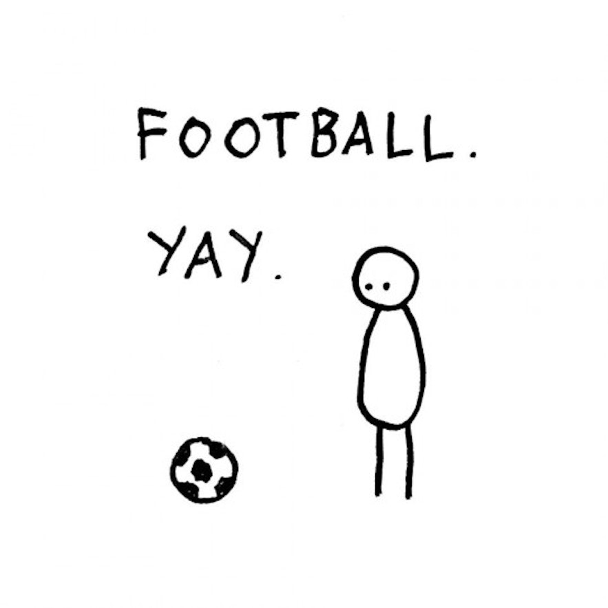 Hugleikur Dagsson's usual approach to football