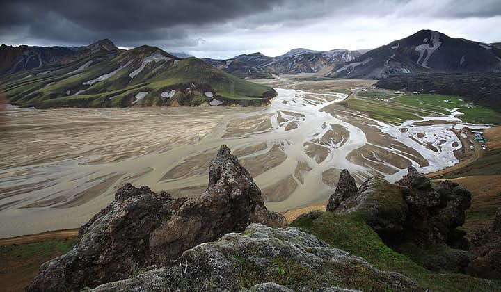 The Landmannalaugar Highland region is home to many mighty glacier rivers.