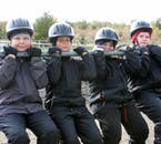 Children six-years-old and up are welcome to join a horse-riding tour.