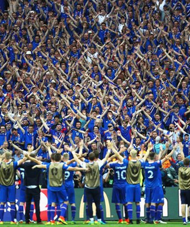 Iceland goes crazy after winning Austria in EURO 2016
