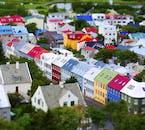 Reykjavík's multicoloured tin roofs.