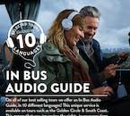 버스 내에서 10개 국어로 음성가이드가 지원됩니다.