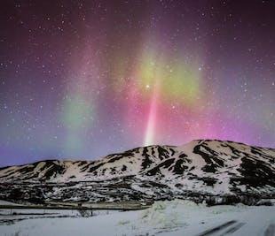 Sortie aurores boréales   Avec guide audio en français   De Reykjavik