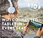 Votre tablette sera connectée au wifi embarqué et vous fournira toutes les informations fondamentales que vous recherchez, en 10 langues!
