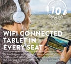 Your tablet will be connected to the on-board wifi and provide you with all the fundamental information you seek—and in 10 languages!