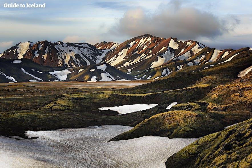 아이슬란드 고원지대의 봄