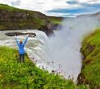 La cascade de Gullfoss est l'un des trois lieux incontournables de la route touristique du Cercle d'Or.