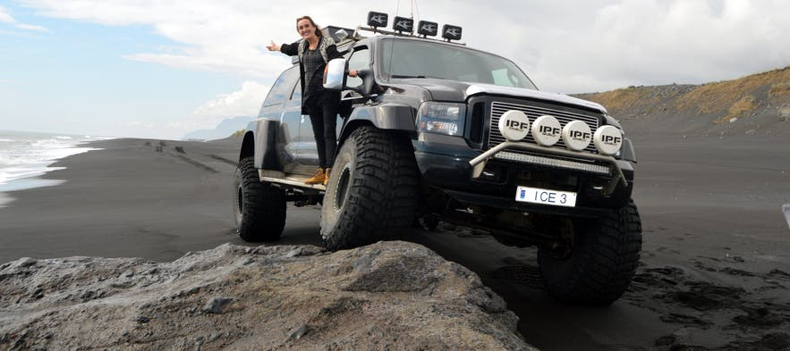 Eyjafjallajökull Volcano and the South Coast of Iceland in a Luxurious Super Jeep