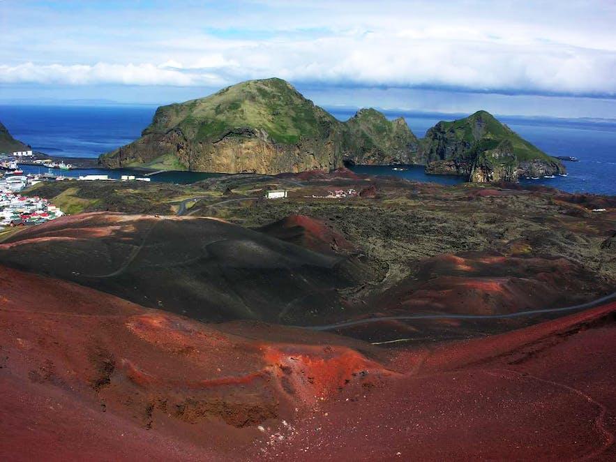 西人岛eldfell火山