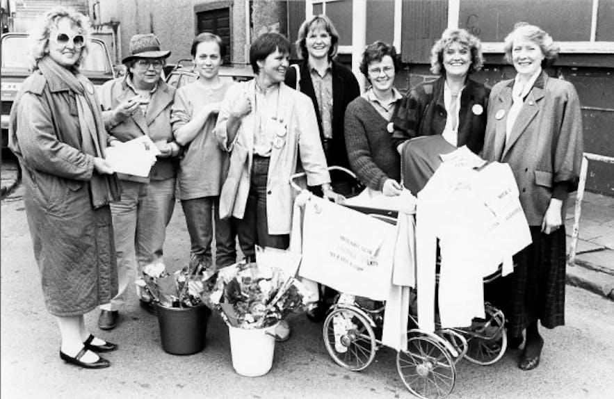 Kvennalistinn - Iceland's Women's Party in 1983, picture by Börkur Arnarson