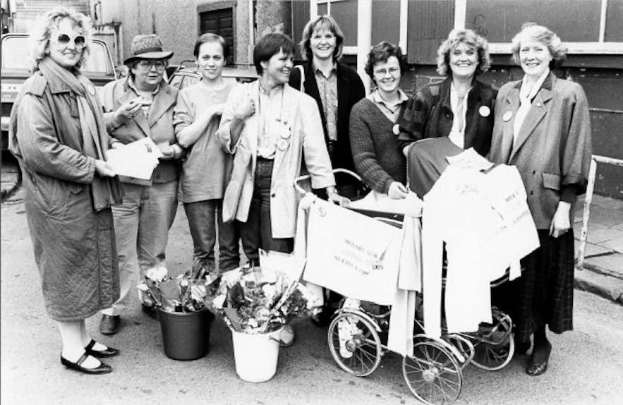 Kvennalistinn - Iceland's Women's Party in 1983, picture by Börkur Arnarson