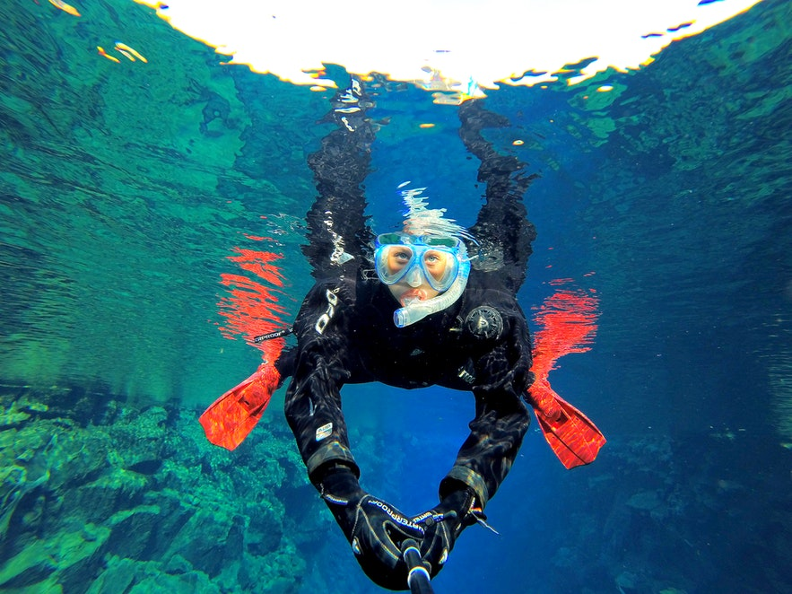 Snorkeling between continents - Silfra fissure