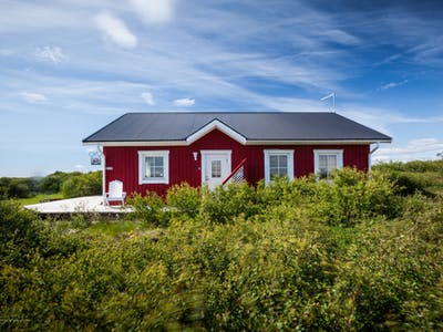 Great cabin with a panorama mountain view near Borgarnes