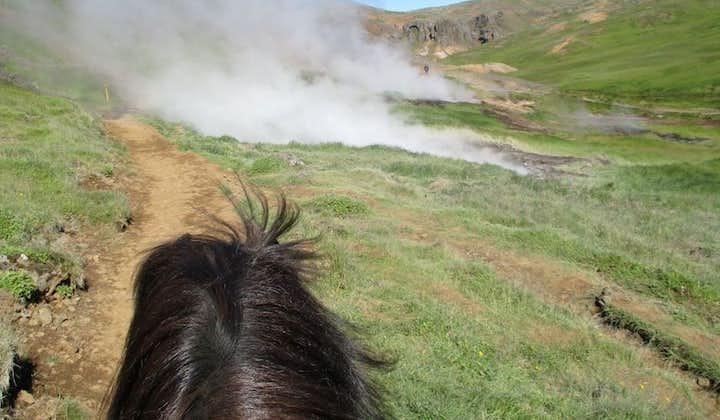 The view of Reykjadalur from horseback