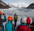 Your guide will teach you about the glacier and surrounding area, as well as take you step by step through the hiking process.