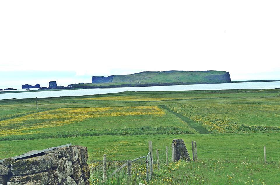 View towards Dyrhólaey in south Iceland