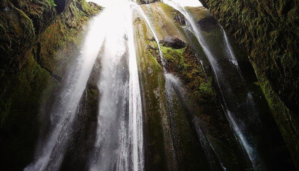 Gljúfrabúi waterfall in Iceland in June