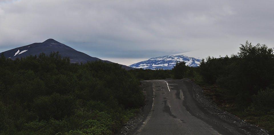 Icelandic landscape in June