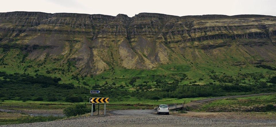 Hvalfjörður fjord in Iceland in June