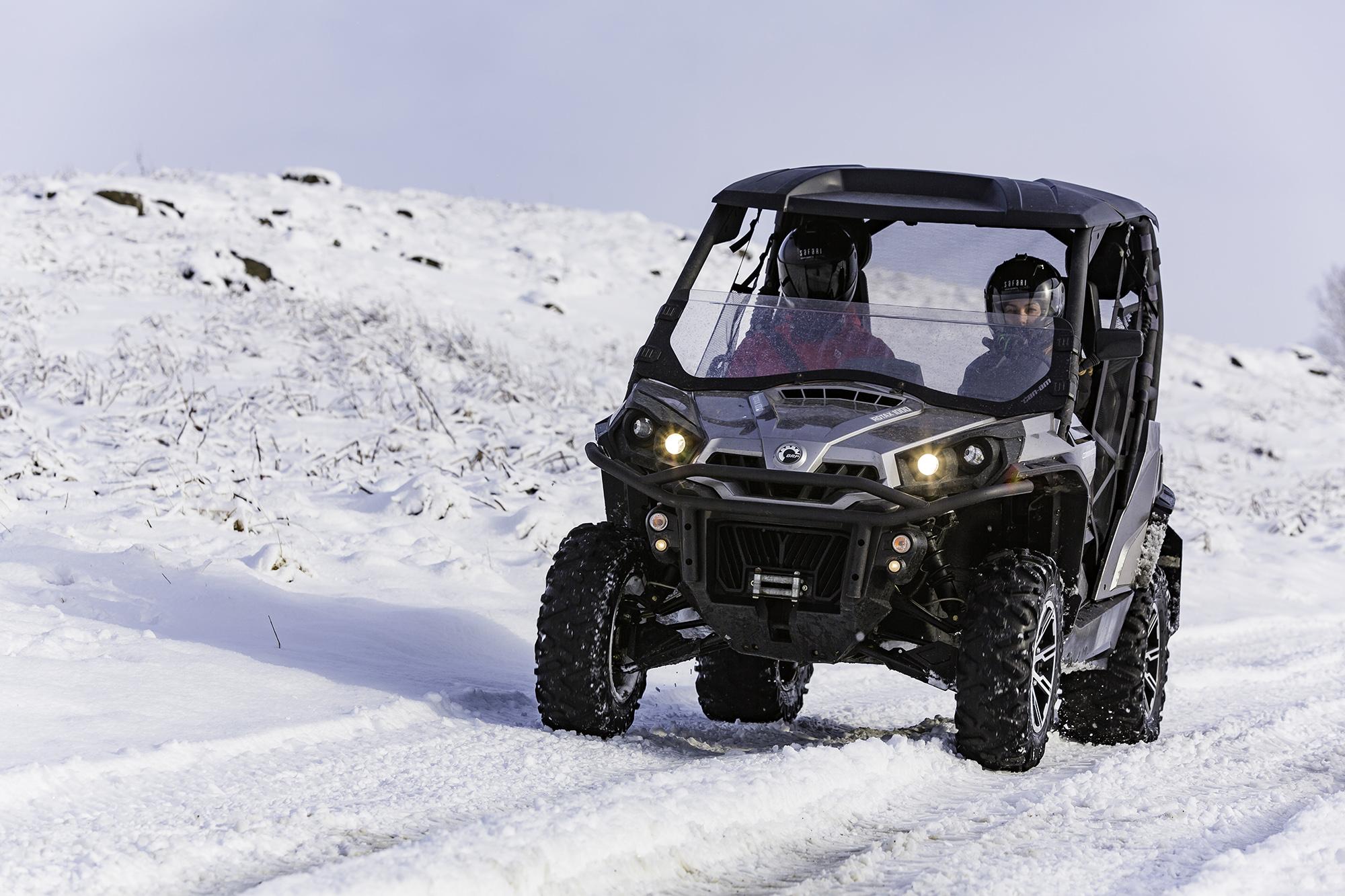 全地形越野车可以征服冰岛的所有地貌!