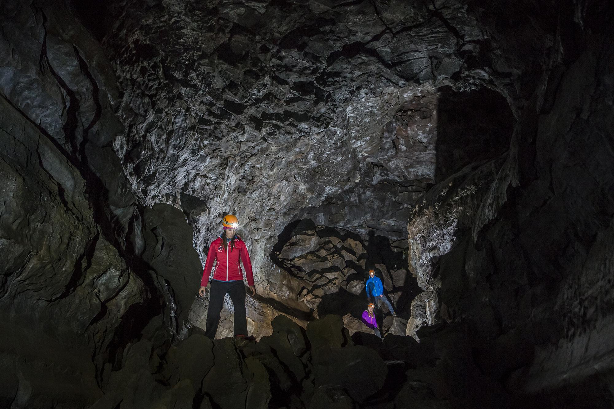 On the ATV & Underworld Lava Caving Trip from Reykjavík you'll visit the stunning Leiðarendi cave.
