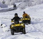 ATV & Underworld Lava Caving Trip from Reykjavík you'll drive quad bikes that are easy to handle.