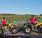 The automatic quad bikes are easy to drive and can take you through rugged areas.