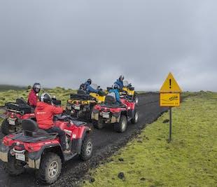 화산과 용암 주변 1일 ATV 투어 레이캬비크 출발