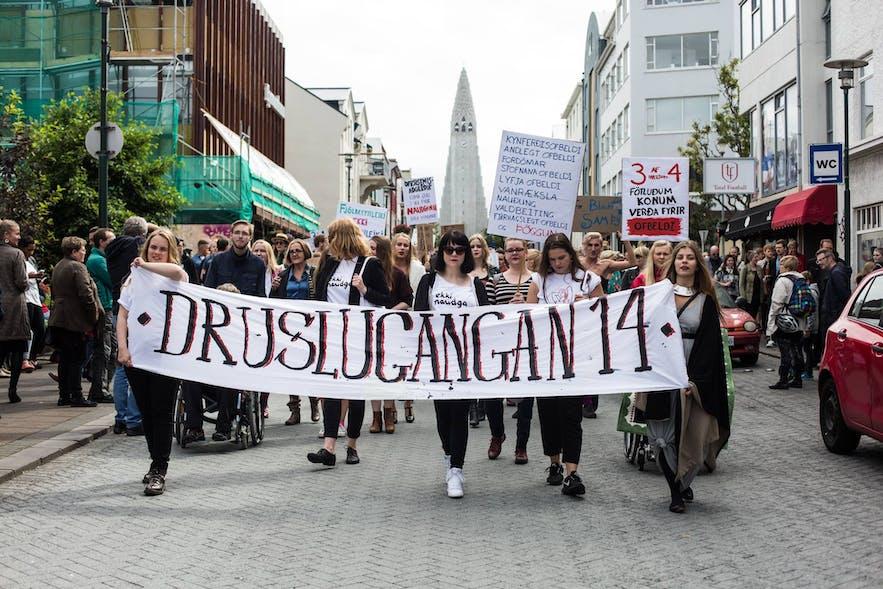 SlutWalk in Reykjavík 2014