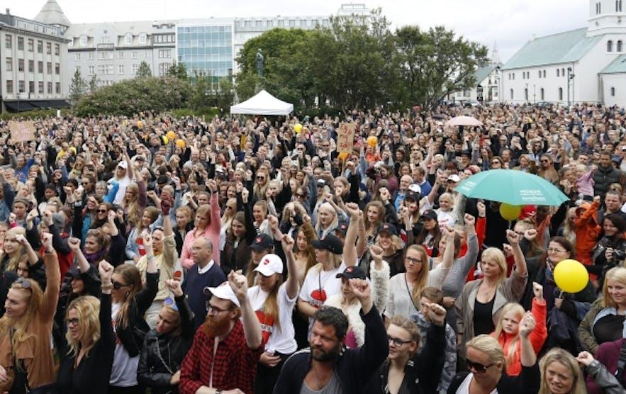 SlutWalk in Reykjavík 2015
